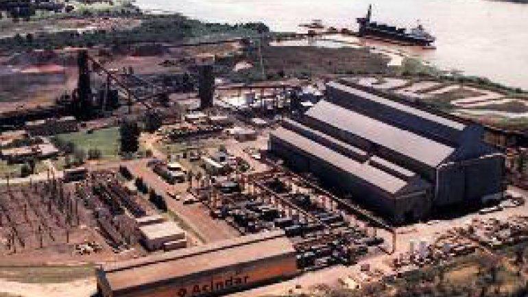 Vista aérea de la plata de Acindar de Villa Constitución