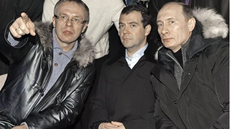 В.Фетисов, Д.Медведев, В.Путин