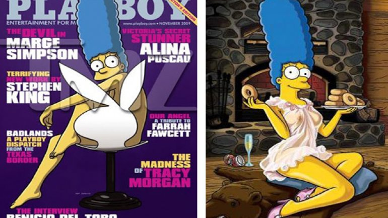 Las Fotos Secretas De Marge Simpson Desnuda