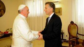 Mauricio Macri cuando fue recibido por el papa Francisco