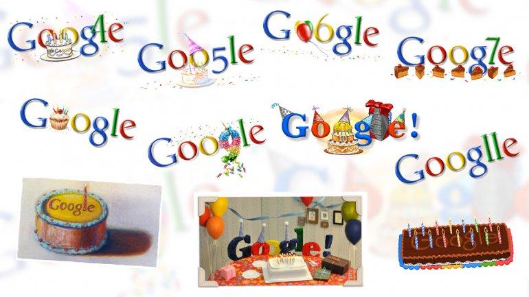 Los doodles con los que Google festejó su cumpleaños a lo largo de la historia