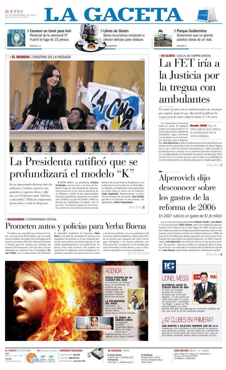 La gaceta noticias tucuman argentina new style for 2016 2017 - La gaceta tucuman ...