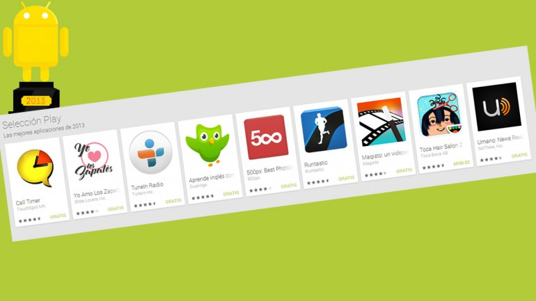 Google eligió las mejores aplicaciones para Android de 2013
