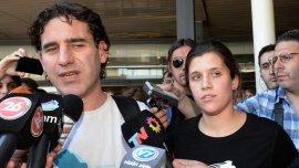 Hernán Pérez Orsi y Camila Speziale, los activistas detenidos en Rusia en 2013.