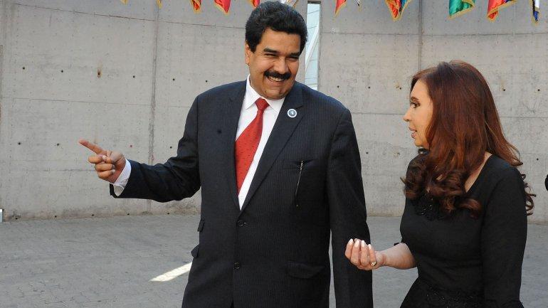 Nicolás Maduro y Cristina Kirchner