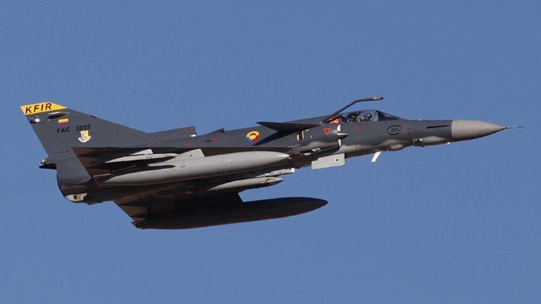 El modelo de avión Kfir Block 60 que el gobierno argentino evalúa comprar a Israel