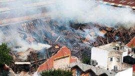 Así se incendió el depósito de la compañía el pasado 5 de febrero de 2014.