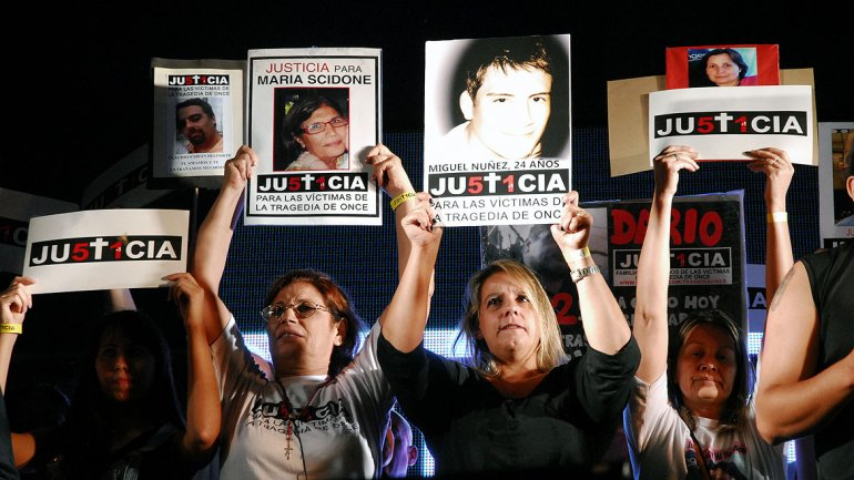Los oradores recalcaron que el objetivo es exigir Justicia e intentar que nadie vuelva a enfrentar lo que sucedió hace dos años