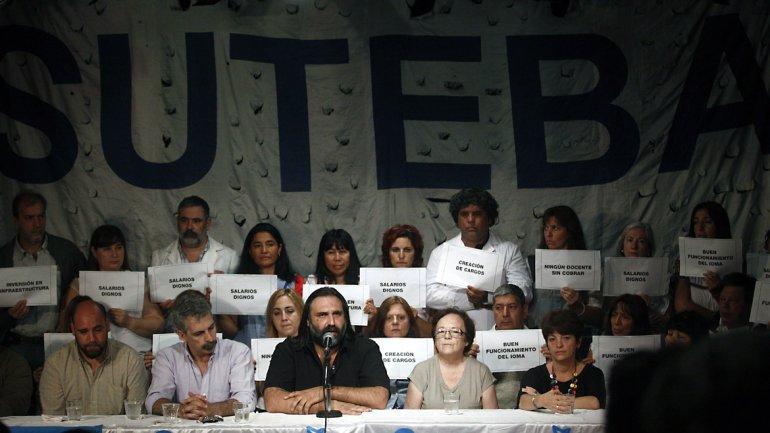 Roberto Baradel, líder sindical docente