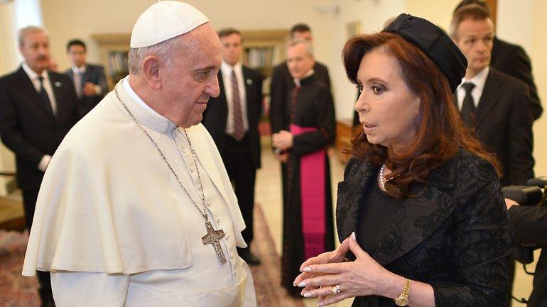 Cristina Kirchner y Francisco se reunieron a principios de año en el Vaticano