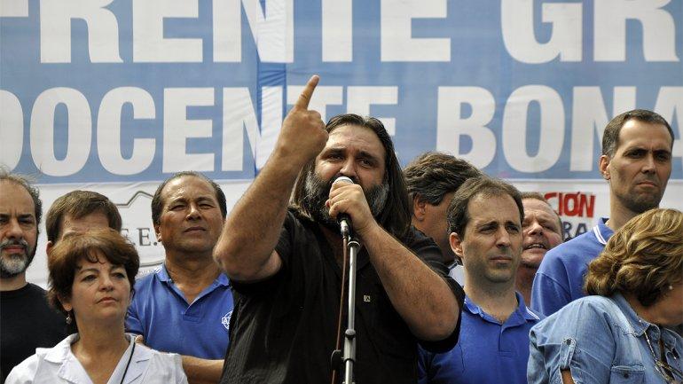Roberto Baradel, referente del Frente Gremial Docente bonaerense