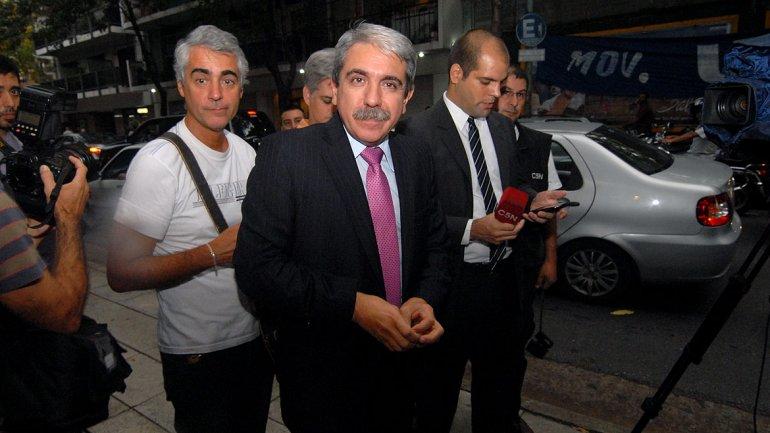 El senador Aníbal Fernández estuvo entre los presentes