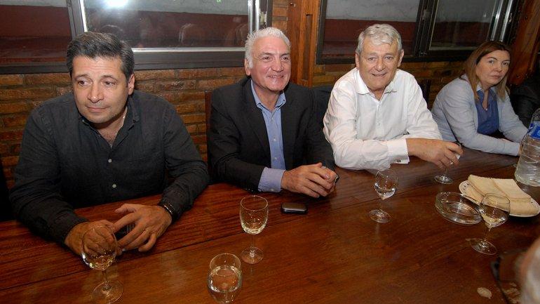 Víctor Santa María, Dante Gullo y Carlos Kunkel