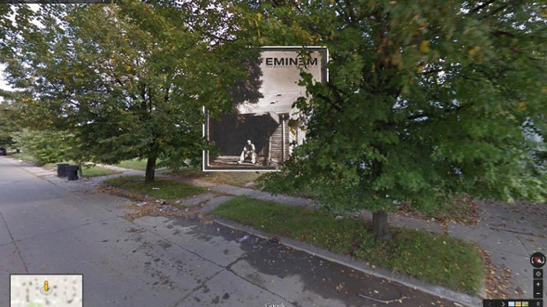 Tapas de discos clásicos en el ojo de Google Street View