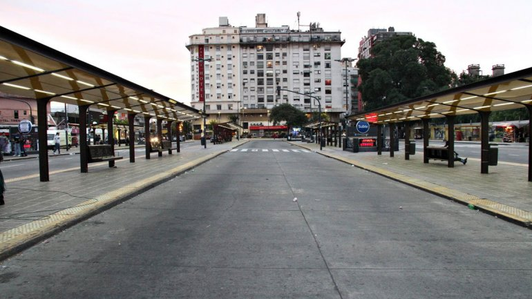 Las calles quedaron vacías en la última medida de fuerza