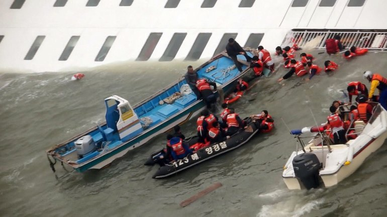 El barco se hundió a unos 20 kilómetros de la isla suroccidental de Byeongpyung