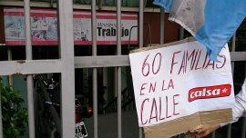 Foto de archivo. Protesta de trabajadores de la industria alimenticia