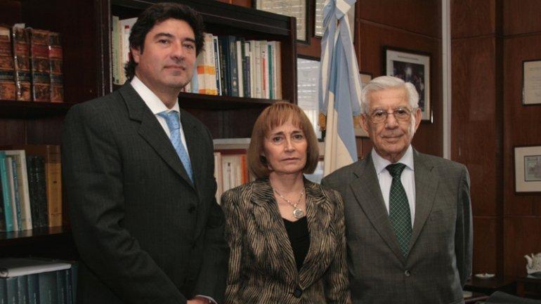 Alejandro Slokar, Ángela Ledesma y Pedro David, quien suele votar en disidencia