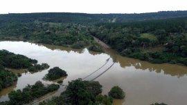A mediados de 2015, el río Paraná subió su nivel y provocó inundaciones