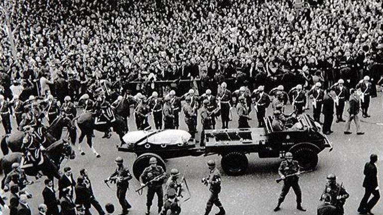 Juan Domingo Perón murió el 1 de julio de 1974, a los 78 años