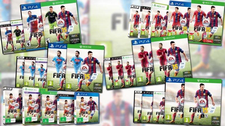 Así serán las portadas de los FIFA y PES 15 en las distintas partes del mundo