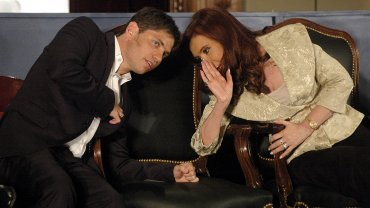 Axel Kicillof y Cristina Kirchner en el 160 aniversario de la Bolsa de Comercio