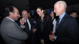 El embajador Guillermo Pomi Barriola junto al diputado Francisco de Narváez, su esposa Agustina Ayllón y el diputado Carlos Brown.