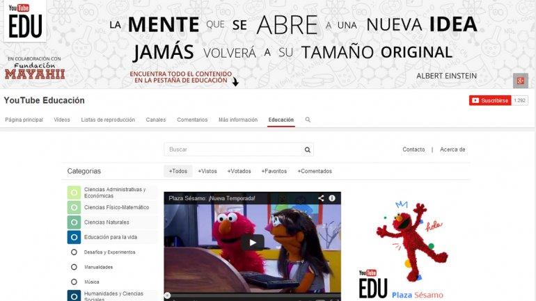 YouTube inauguró un canal educativo en español