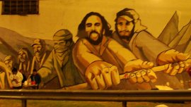 Mural en honor a ambos piqueteros