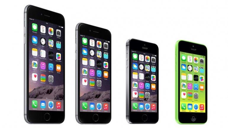 Los iPhone 6 y 5, de donde el SE tomaría el diseño