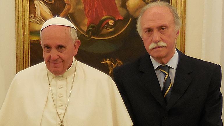 El Papa con Ricardo Romano