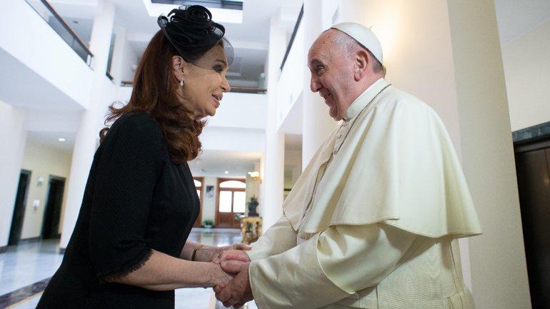El papa Francisco almorzó a solas con Cristina Kirchner en el Vaticano