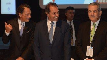 Claudio Belocopitt, Daniel Scioli y Miguel Blanco