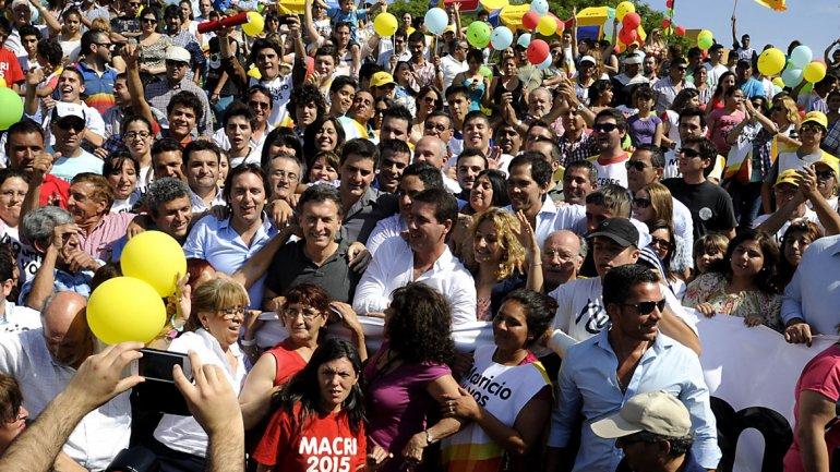 En campaña, Macri dijo que se imagina en una segunda vuelta con un rival del oficialismo
