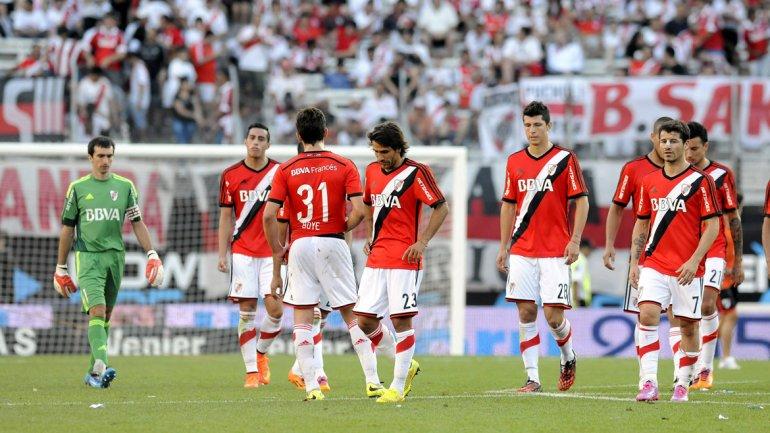El Millonario superaba a los bahienses con un cabezazo deRamiro Funes Mori,pero una falla del defensor permitió el 1-1 deMiguel Borja