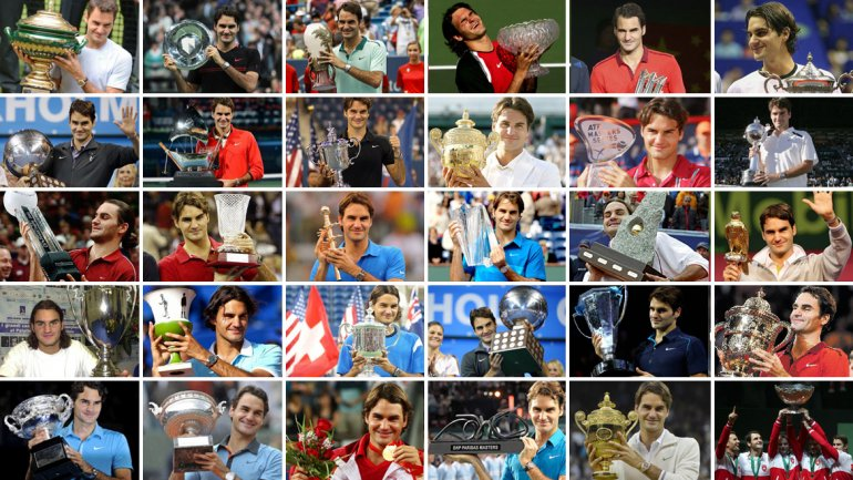 De Milan 2001 a la Copa Davis 2014: los títulos de Federer