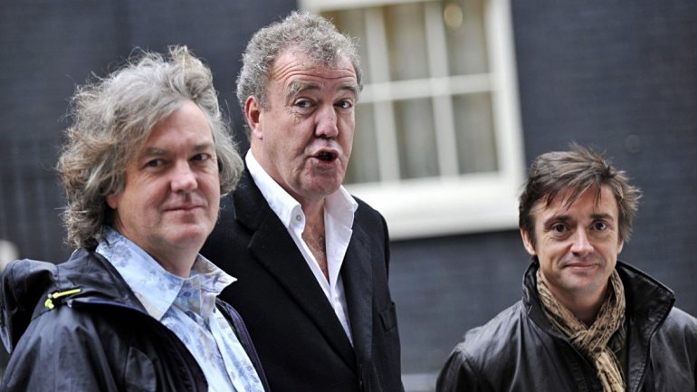 Los reyes de Top Gear: James May (izda.), Jeremy Clarkson (centro) y Richard Hammond (dcha).