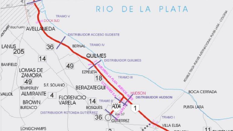 Autopista Buenos Aires -La Plata, obra de infraestructura de los años 90