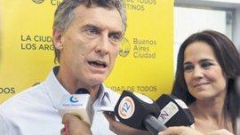 Mauricio Macri y la concejal rosarina, Anita Martínez