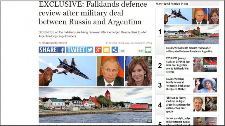 Alerta en el Reino Unido: aseguran que Rusia le ofreció aviones de combate a la Argentina 0012020090