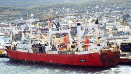 Uno de los barcos de Pesantar, Echizen Maru.
