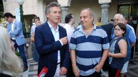 Mauricio Macri junto a Hernán Lombardi