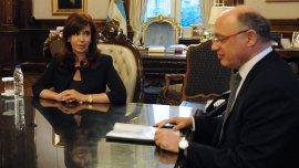 El canciller Héctor Timerman junto a la presidente Cristina Kirchner