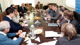 Iván Budassi, titular de ARBA, en reunión con la Mesa Agropecuaria