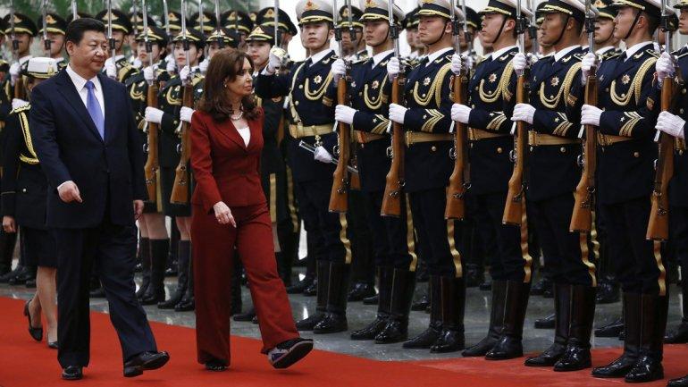 China: Cristina cerró un encuentro de empresarios