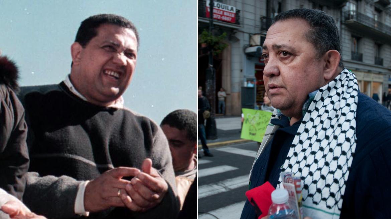Luis DElía radicalizó su vestuario a la par que su discurso, usando bufandas y pañuelos palestinos