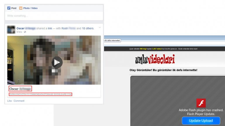 Video porno infecta facebook