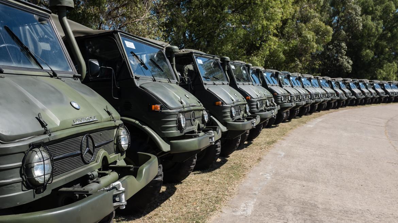 Los Unimog del Ejercito y la Gendarmeria Argentina