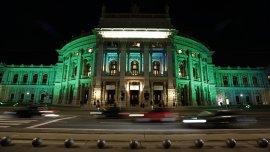 El Burgtheater en Viena, Austria