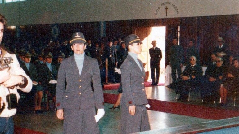 Stella Morales, durante el egreso de la Escuela de Suboficiales.